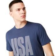 USA Allover Tee - Foggy Blue