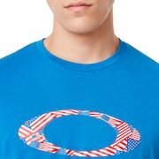 Ellipse USA Pattern Tee - Matrix Blue