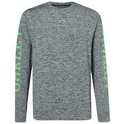 3 Rd-G O Fit Long Sleeve Tee 2.7 - Dark Gray Heather