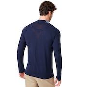 Seamless Hybrid Sweater - Alien Blue