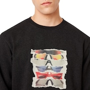 Sunglass Print Crewneck - Dark Gray Heather