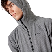 Enhance Grid Fleece Jacket 9.7 - Dark Gray Heather