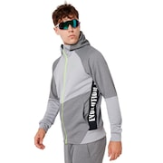 Enhance Grid Fleece Jacket 9.7 - Charcoal/Heather Gray