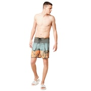 Palm Geometric Print Boardshort 19'' - Autumn Glory Palm