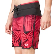 Palm Geometric Print Boardshort 19'' - Rasperry Palm