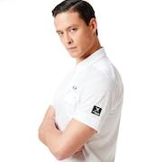 Skull Rhomboid Jq Shirts - White