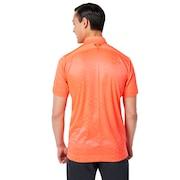 Skull Rhomboid Jq Shirts - Coral Glow