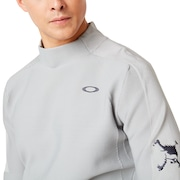 Skull Exquisite Sweater Mock - Gray Slate
