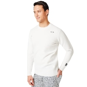 Skull Sinuous Sweater Crew - White