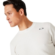 Skull Sinuous Sweater Crew - White