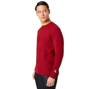 Skull Sinuous Sweater Crew - Raspberry