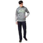 Enhance Grid Fleece Hoody 9.7 - Charcoal/Heather Gray