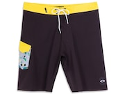 Bermuda De Água Tropical Side Pocket Boardshorts - Blackout