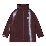 Spray Print Coat OSR - Dark Wine
