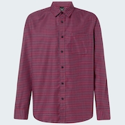 Checked Woven Long Sleeve Shirt 6 - Mini Check Red-Blue