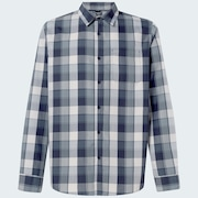 Checked Woven Long Sleeve Shirt 5 - Gray Scale Check