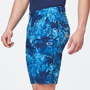 Skull Addictive Shorts 2.0 - Blue Storm Print