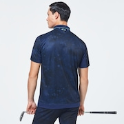 Skull Liquid Polo - Blue Storm Print