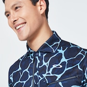 Skull Breathable Graphic Shirts 2.0 - Blue Storm Print
