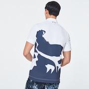 Skull Overloud Graphic Shirts - White