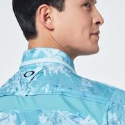 Skull Full Bloom Shirts - Sky Blue Print