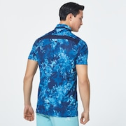 Skull Full Bloom Shirts - Blue Storm Print