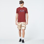 Water Ellipse Short Sleeve Tee - Spicy Red