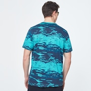 Water Print Short Sleeve Tee - Blue Water Print