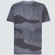 Camo Lines Print Short Sleeve Tee - Camo Lines Gray