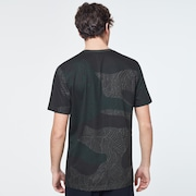 Camo Lines Print Short Sleeve Tee - Camo Lines Dark Brush