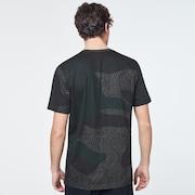 Camo Lines Print Short Sleeve Tee - Camo Lines Dark Brush