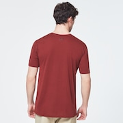Ellipse Camo Lines Short Sleeve Tee - Spicy Red