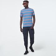 Six Stripes Short Sleeve  Tee - Interstellar Blue