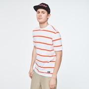 Six Stripes Short Sleeve  Tee - White