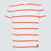 Six Stripes Short Sleeve  Tee - White
