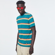 Four Stripes Short Sleeve Tee - Forest Town