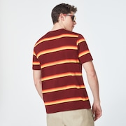 Four Stripes Short Sleeve Tee - Spicy Red