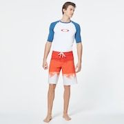 Color Block Short Sleeve Rashguard - Interstellar Blue