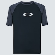 Color Block Short Sleeve Rashguard - Uniform Gray