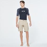 Color Block Short Sleeve Rashguard - Uniform Gray