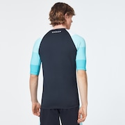 Grad Stripes Short Sleeve Rashguard - Blackout