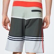 Striped 1975 Boardshort 21 - Dark Brush Color Block