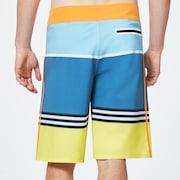 Striped 1975 Boardshort 21 - Blue Yellow Color Block