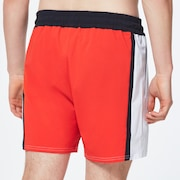 B1B Color Block Beachshort 16 - Energetic Orange