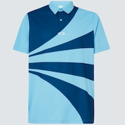 Geometric Swing  Polo - Interstellar Blue