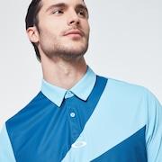 Geometric Swing  Polo - Interstellar Blue