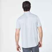 Geometric Swing  Polo - Fog Gray