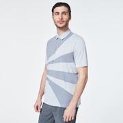 Geometric Swing  Polo - Fog Gray