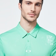 Color Block Shade Polo - Trifoil Green