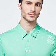 Color Block Shade Polo - Trifoil Green